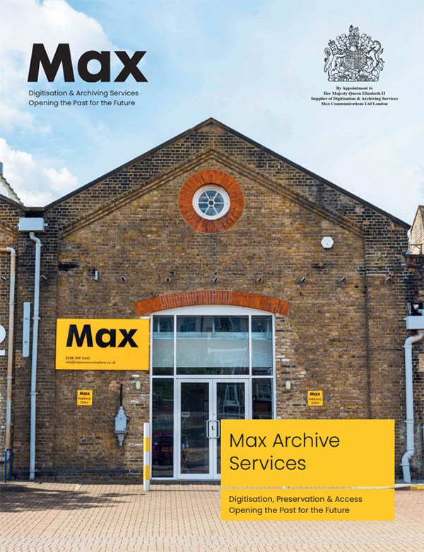 Max Digitisation and Archive Services Brochure